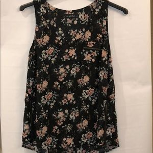 My Michelle sleeveless floral blouse